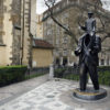 Franz-Kafka-Statue-Jaroslav-Rona-Prague-Holy-Ghost-Church