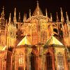 Gothic-St-Vitus-Cathedral-on-Prague-Castle-in-the-Evening-
