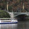 Prague-from-a-boat-on-Vltava-River-Czech-Bridge