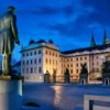President-Masayk-statue-Hradcanske-Square-Prague-Castle-with-St-Vitus-Cathedral-Prague