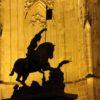 St-Vitus-Cathedral-Prague-Castle-Night-Shot-Statue