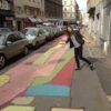 Street art on Prague's pavement